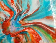 Abstract by Anjalee S Goel, Abstract Painting, Mixed Media on Canvas, Brown color