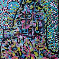 Wonky 1   aryclic on canvas 2015..