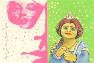Warhol and the History of Art by Durga Kainthola, Pop Art Painting, Gouache on Paper, Beige color