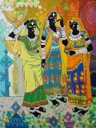 Ethnic Serendipity 17 Digital Print by Anuradha Thakur,Traditional