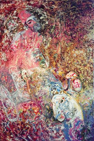 Tangawallah by Deepak Shinde, Expressionism Printmaking, Giclee Print on Hahnemuhle Paper, Brown color