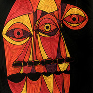 A Bargain Agreement - The Agreement 4 by Dhanur Goyal, Expressionism Painting, Ink on Paper, Brown color