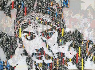 Storyteller- Grace by Vinita Dasgupta, Pop Art Painting, Mixed Media on Board, Brown color