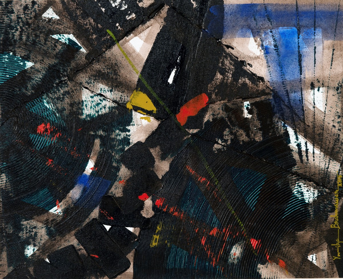 Space Dilution Digital Print by Yuvika Brahmawar,Abstract