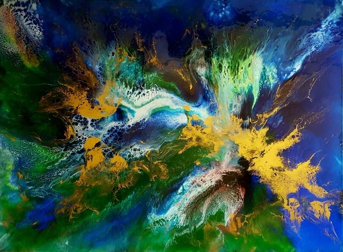Peacock Throne Digital Print by Anjalee S Goel,Abstract