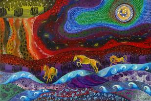 Gallop to Paradise Digital Print by Pragati Sharma Mohanty,Fantasy