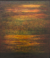 Untitled by P. Saraswati, Abstract Painting, Acrylic on Canvas, Brown color