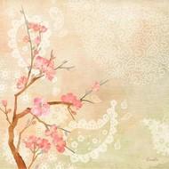 Sweet Cherry Blossoms II Digital Print by Evelia Designs,Impressionism