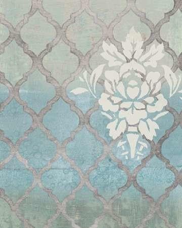 Teal & Arabesque I Digital Print by Studio W,Decorative