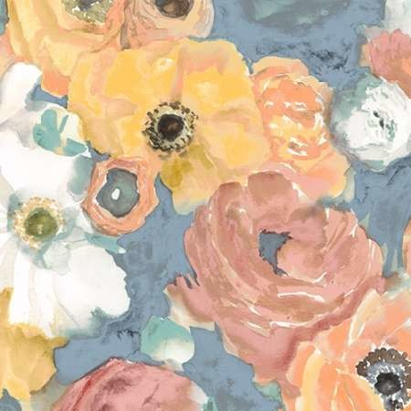 Happy Florals I Digital Print by Studio W,Impressionism