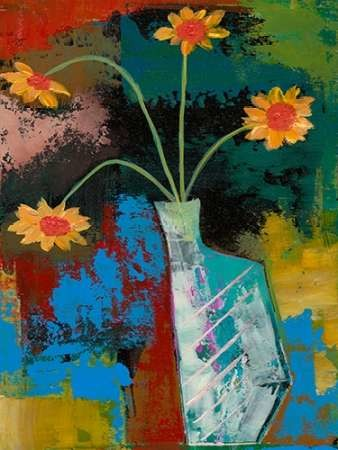Abstract Expressionist Flowers III Digital Print by Altug, Mehmet,Decorative