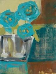 Blue Bud Vase I Digital Print by Goldberger, Jennifer,Impressionism