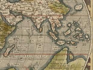 Antique World Map Grid VI Digital Print by Vision Studio,Decorative
