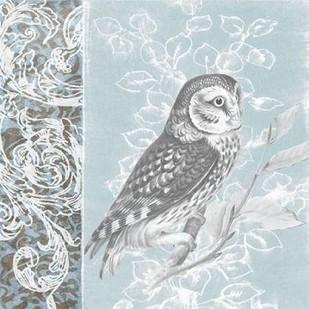 Owl Filigree II Digital Print by Studio W,Decorative