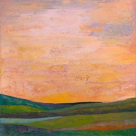 Vivid Layered Landscape I Digital Print by Altug, Mehmet,Impressionism
