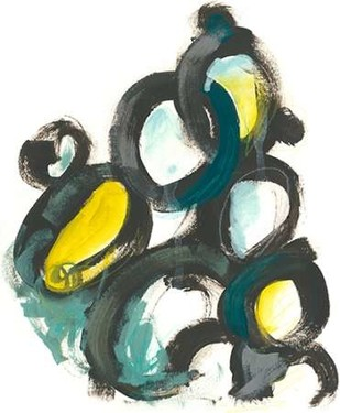 Linked Ovals I Digital Print by Vess, June Erica,Abstract