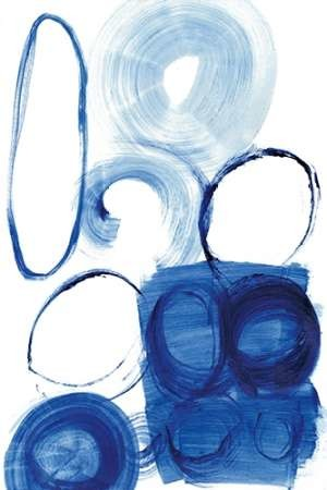 Blue Circle Study I Digital Print by Fuchs, Jodi,Abstract