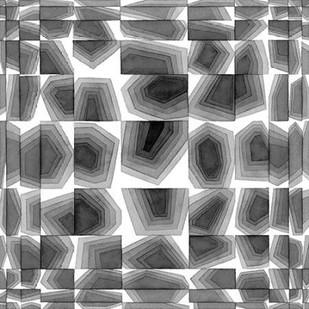 Gradient Grays III Digital Print by Galapon, Nikki,Abstract
