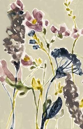 Parchment Flower Field I Digital Print by Goldberger, Jennifer,Decorative