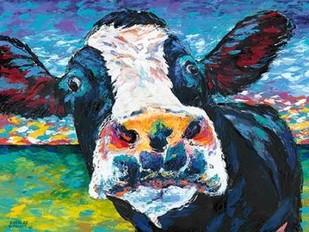 Curious Cow II Digital Print by Vitaletti, Carolee,Expressionism