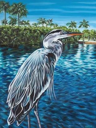 Peaceful Heron I Digital Print by Vitaletti, Carolee,Expressionism