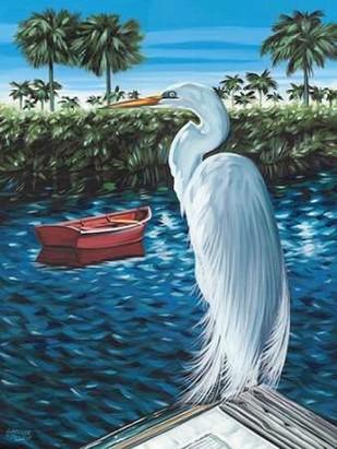 Peaceful Heron II Digital Print by Vitaletti, Carolee,Expressionism