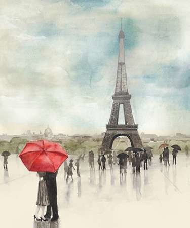 Rainy Day Lovers I Digital Print by Popp, Grace,Impressionism
