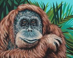 Jungle Monkey I Digital Print by Vitaletti, Carolee,Expressionism
