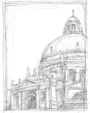 Sketches of Venice II Digital Print by Harper, Ethan,Illustration