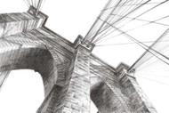 Brooklyn Bridge Panorama Digital Print by Harper, Ethan,Illustration