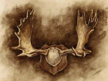 Rustic Antler Mount II Digital Print by Harper, Ethan,Decorative