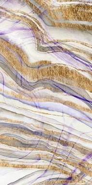 Amethyst & Gold II Digital Print by Studio W,Abstract