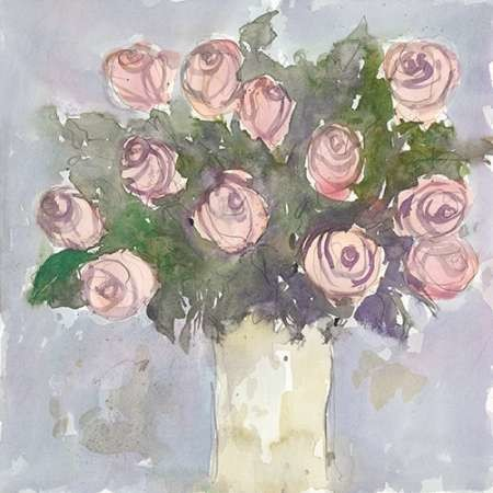 Watercolor Bouquet II Digital Print by Dixon, Samuel,Impressionism