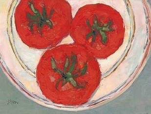 Plate with Tomato Digital Print by Dixon, Samuel,Impressionism