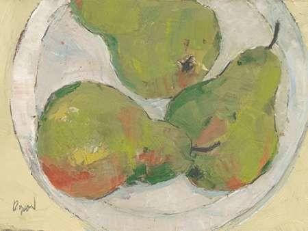 Plate with Pear Digital Print by Dixon, Samuel,Impressionism