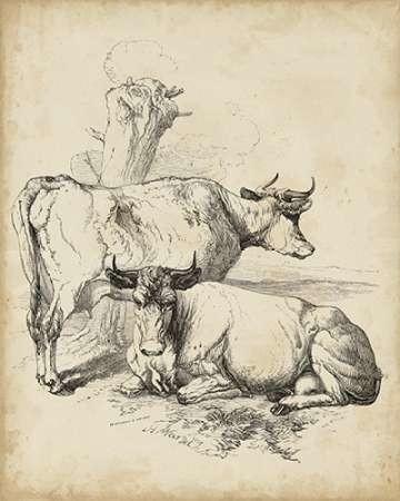 Pastoral Sketch III Digital Print by Unknown,Illustration
