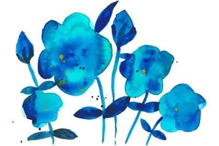 True Blue I Digital Print by Ludwig, Alicia,Impressionism