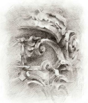 Frieze Study II Digital Print by Harper, Ethan,Illustration