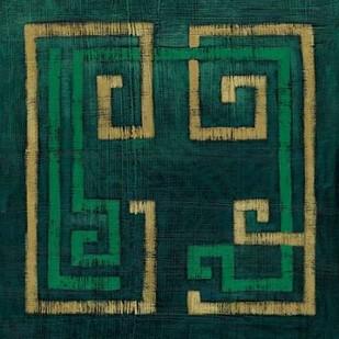Emerald Diversion II Digital Print by Zarris, Chariklia,Decorative, Geometrical