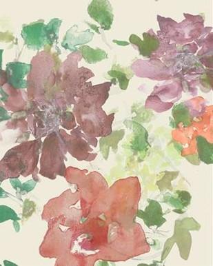 Fuchsia Inked Blooms II Digital Print by Studio W,Impressionism