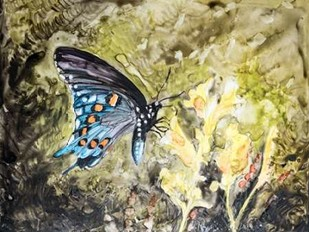 Butterfly in Nature I Digital Print by Lynnsy, B.,Impressionism