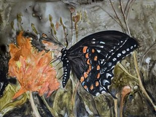 Butterfly in Nature IV Digital Print by Lynnsy, B.,Expressionism