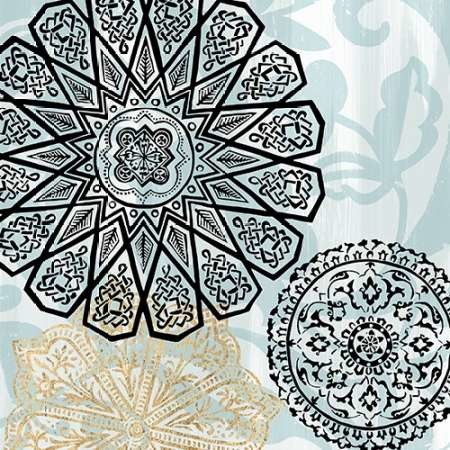 Rosettes on Aqua III Digital Print by Studio W,Decorative
