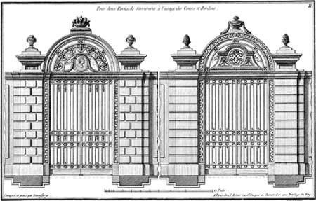 Custom Neufforge Gate Blueprint I Digital Print by Neufforge,Illustration