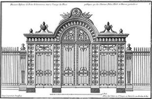 Custom Neufforge Gate Blueprint III Digital Print by Neufforge,Illustration, Illustration