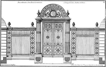 Custom Neufforge Gate Blueprint IV Digital Print by Neufforge,Illustration