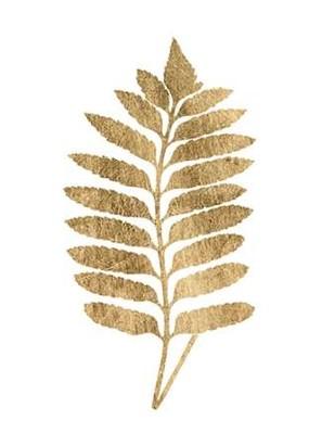 Graphic Gold Fern III Digital Print by Studio W,Decorative