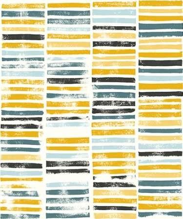 Saffron Block Print II Digital Print by Popp, Grace,Abstract