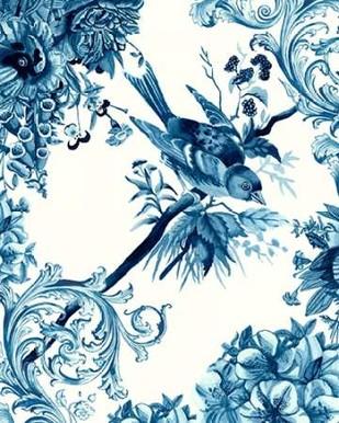 Bird and Branch in Indigo II Digital Print by McCavitt, Naomi,Art Deco