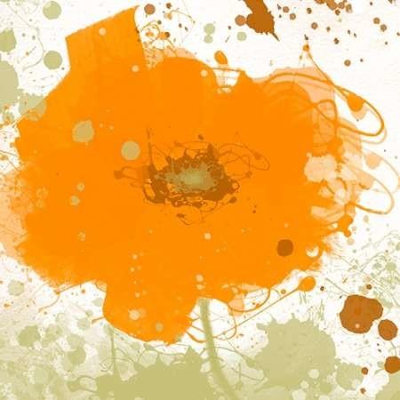 Modern Orange Digital Print by Orlov, Irena,Decorative